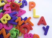 Colored Alphabet Letters