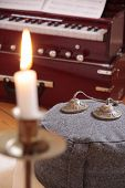 Candle, Harmonium And Cymbal