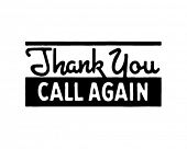 Thank You Call Again 5 - Retro Ad Art Banner