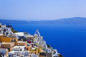 Постер, плакат: Вид на Санторини Греция