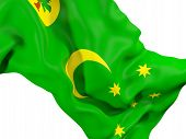Waving Flag Of Cocos Islands poster