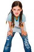 Caucasian Girl Posing
