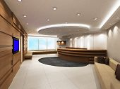 image of reception-area  - Entrance area of an office with modern decoration - JPG