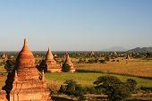 Ancient  stupas and payas in Bagan (Myanmar)