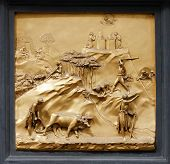 Cain and Abel by Ghiberti. Detail of the panel on the doors (