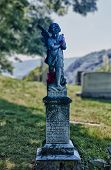 Statue Of Eleanor In Harpers Ferry Cemetery