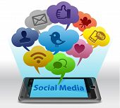 Social Media auf smartphone