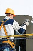 facade thermal insulation works with stopping and surfacer