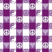 Peace Plaid_Purple