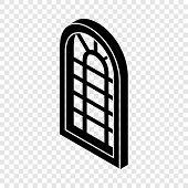 Palace Window Frame Icon. Simple Illustration Of Palace Window Frame Vector Icon For Web poster