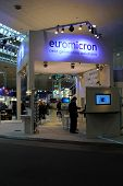 Hannover - March 10: Stand Of Euromicron On March 10, 2012 At Cebit Computer Expo, Hannover, Germany