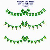 Bright Background With Flag Of Brazil . Set For Holidays With Flag Of Brazil. Happy Brazil Day Backg poster