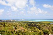 Panorama San Andres Island Caribbean Sea Colombia South America