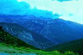 Beautiful Sunset In A Mountain Valley Along The Road To Chefchaouen In Morocco poster