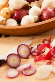 Sliced Red Pearl Onions