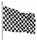 Bandera de cuadros en blanco y negro