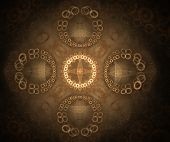 Abstract Brown Background with Rings