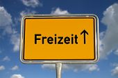 German Road Sign Leisure