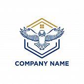 The Flying Eagle. Vector Emblem. Eagle Icon, Eagle Design Vector, Eagle Icon Picture, Eagle Icon Vec poster