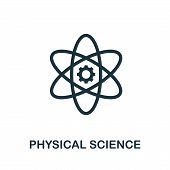 Physical Science Vector Icon Symbol. Creative Sign From Science Icons Collection. Filled Flat Physic poster