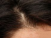 stock photo of top-less  - Close up of a humans head - JPG