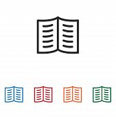 Open Book Icon Isolated On White Background. Open Book Icon In Trendy Design Style. Open Book Vector poster