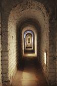 Underground Corridor In Fortress