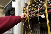 Technician Connecting Fibre Optic
