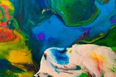 Photo Of Multicolor Plasticine Mixed Texture. Multicolored Abstract. poster