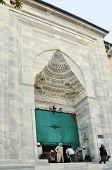 Bursa Turkey November 2, 2010: Entrance of Grand Mosque on November 2, 2010 in Bursa Turkey