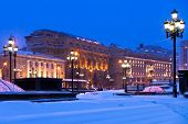 Snow-covered Manege Square In Winter