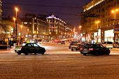 View Of Tverskaya Street In Winter Night In Moscow