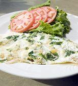 Florentine Spinach Egg White Omelet  Feta Cheese   Tomato Lettuce