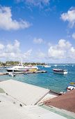 Harbor Port With Jetty Hotel Passenger Ferry  Yacht Sailboats Clifton Union Island St. Vincent And T