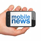 News concept: smartphone with Mobile News