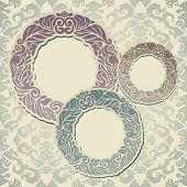 Abstract background with vintage frames