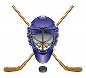 Hockey Mask, Sticks and Puck