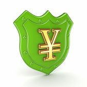 Yen symbol on a backplate.