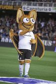 VALENCIA - JANUARY 23: Valencia CF mascot during Spanish King�?�´s Cup match between Valencia CF