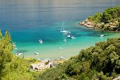 lovrecina beach on brac island, croatia