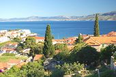 Gorgeous view on village Postira on Brac island, Croatia