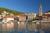 Picturesque superb view of village Pucisca on Brac island, Croatia