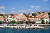 picturesque village sumartin on brac island, croatia