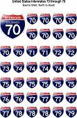 United States Interstates 70 Through 79