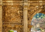 The Arch Of Septimius Severus, Roman Forum