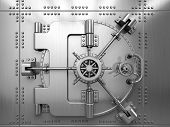 stock photo of bank vault  - Bank Vault Door - JPG