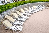 Untidy Beach Chairs To Be Cleaned Up
