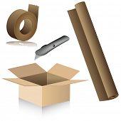 Uma imagem de deslocalização, material de embalagem.