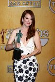 LOS ANGELES - JAN 27:  Julianne Moore pose in the press room at the 2013 Screen Actor's Guild Awards