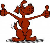Cartoon Dog Thumbs Up Clipart